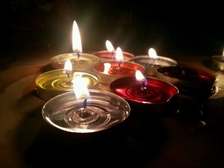 beautiful candle light night scene