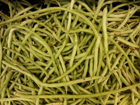 Pile of fresh organic green long bean at vegetables market Stock Photo - 24677567