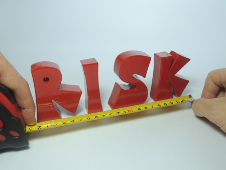 Conceptual illustration of risk measurement Stock fotó - 48802875