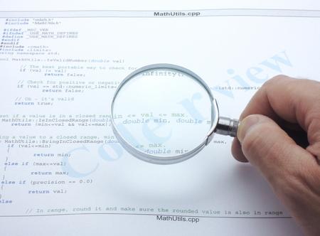 C 프로그램의 코드 검토.