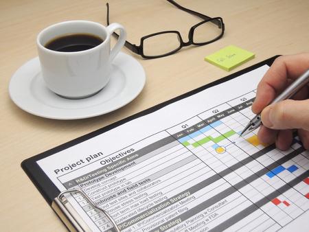 gestion empresarial: Inspeccionar y actualizar el plan de proyecto