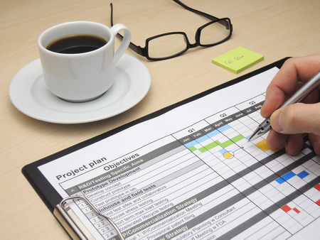 Inspecteren en actualisering van het projectplan