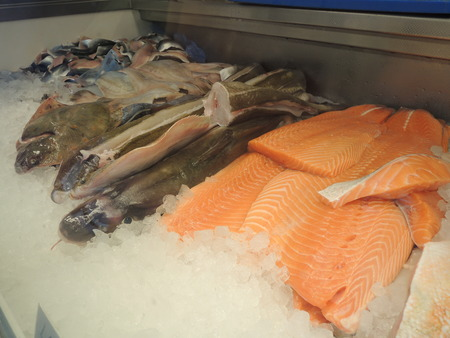fish shop: Fresh fish in a fish shop. Stock Photo