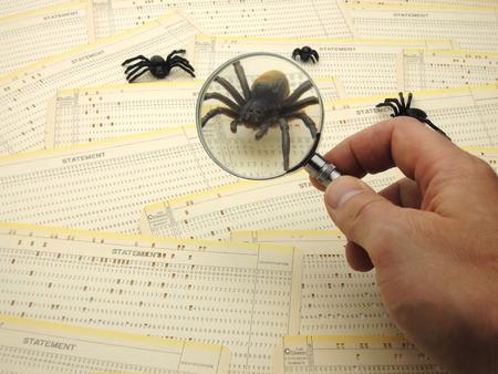 Inspectie van een bug in de broncode.