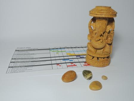 Der Projektleiter God - Ganesha - mehr Hindernisse rettet den Projektplan. Standard-Bild - 48805576