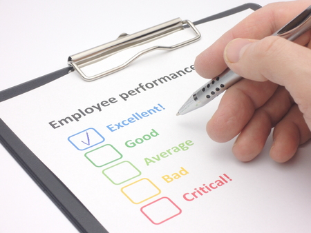 excellent: Rating excellent! in an employee performance assessment