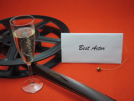 Envelope with best actor for a movie award Stock Photo