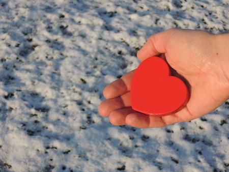 I give you my heart - a sign of love Фото со стока