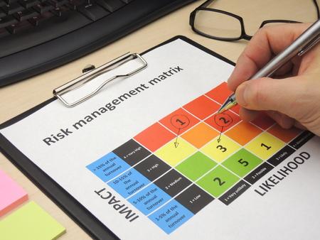 Het identificeren van kritieke risico in een risk management-matrix met het doel hen te veranderen.