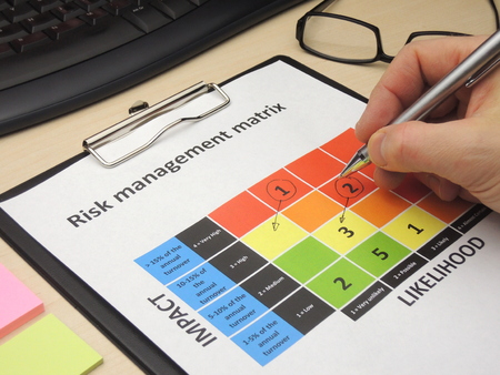 reduce risk: Identifying critical risk in a risk management matrix with the purpose of changing them.