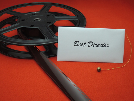 Envelope with best director for a movie award