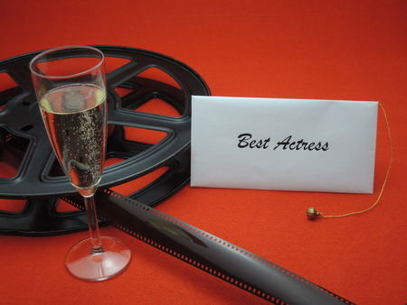 Envelope with best actress for a movie award Stock Photo
