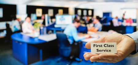 service: Customer service, support or call center offering first class service