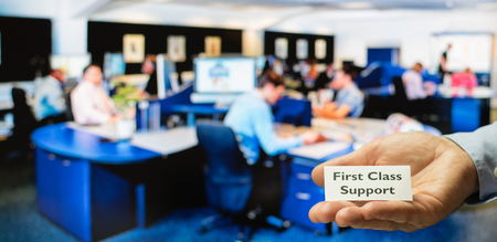 customer support: Customer service, support or call center offering first class support