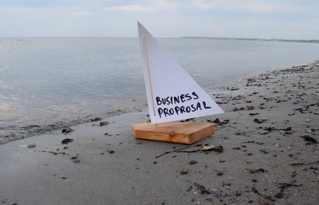 ビジネス提案を起動の抽象的なイラスト。