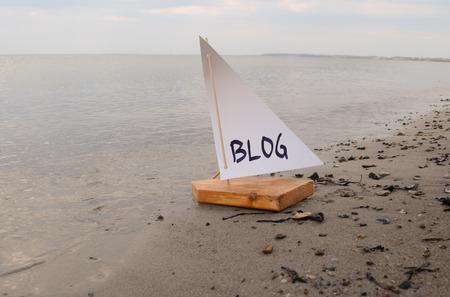 新しいブログを立ち上げての抽象的なイラスト。