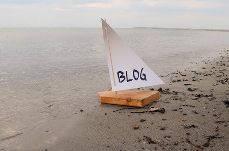 Abstract illustration of launching a new blog.