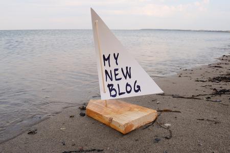 私の新しいブログを立ち上げての抽象的なイラスト。