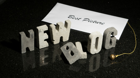 Conceptual or abstract illustration of launching a new film or movie blog. Imagens
