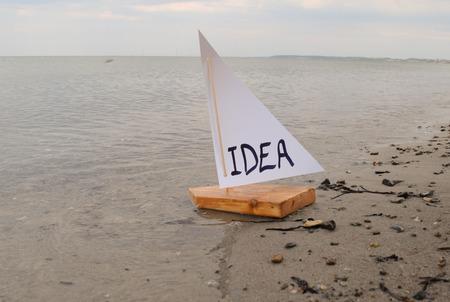 Abstracte illustratie van het voorstellen van een idee.