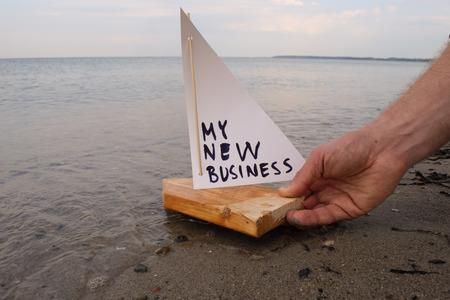 Abstracte illustratie van de lancering van mijn nieuwe business. Stockfoto