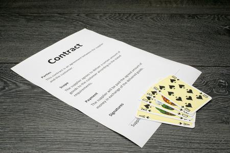 契約の勝利の概念または抽象イラスト 写真素材