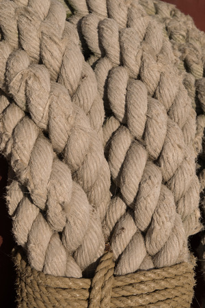 threadbare: Old worn rope for use as background