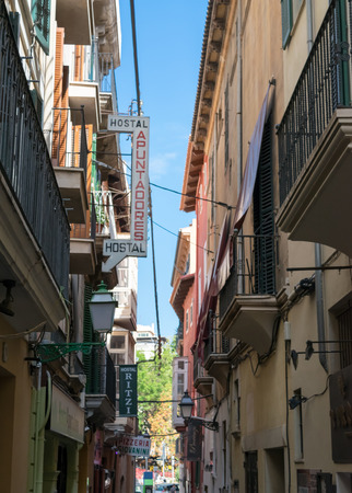 Straatzicht vanuit Palma De Mallorca  Mallorca, Spanje
