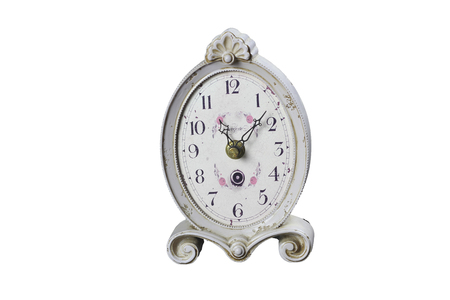Old table clock with arrows