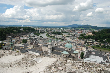 baroque architecture: Old town in Salzburg with baroque architecture