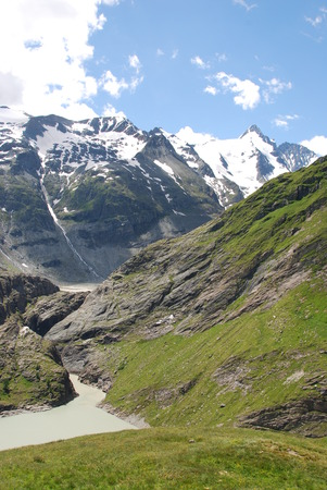 grossglockner: Austrian alps and Grossglockner in the background Stock Photo