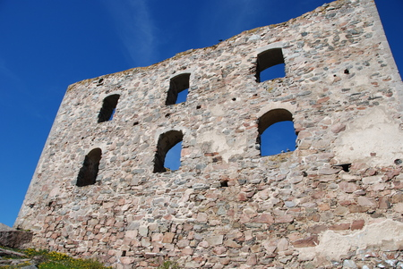 17th: Brahehus old wall, built in 17th century built by the Swedish lake V�ttern, destroyed by fire 1708