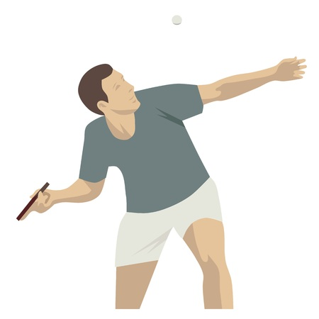 Sport table tennis, isolated vector