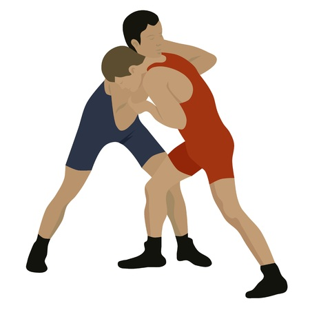 greco roman: Sport wrestling, isolated vector