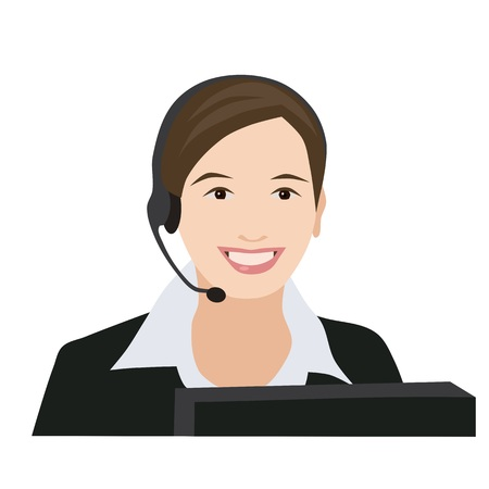 receptionist: Profession receptionist woman Illustration