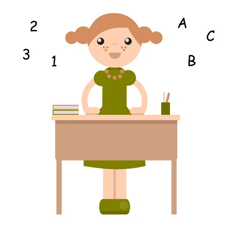 peg: Peg doll in school isolated