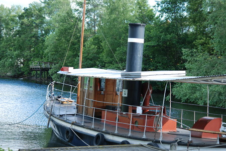 steamboat: Old steamboat for tourists in the canal