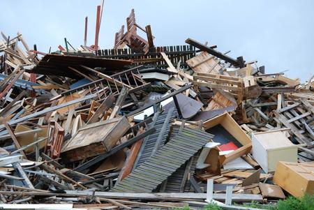 Old Furniture Trash: Rubbish Dump Wood