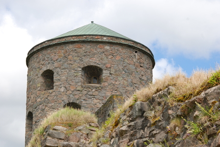 Tower Fars Hatt at Bohus, Nordic historic site, more than 700 years old, unsuccessfully besieged several times