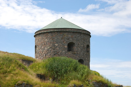 unsuccessfully: Bohus in Kungalv, Nordic historic site, more than 700 years old, unsuccessfully besieged several times Stock Photo