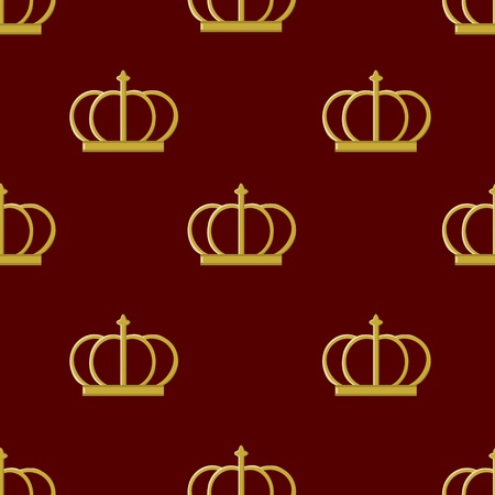 emperor: Seamless pattern golden crown emperor Illustration