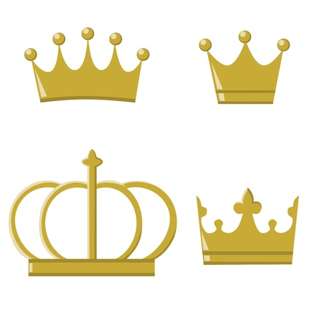Golden crowns for prince and princess