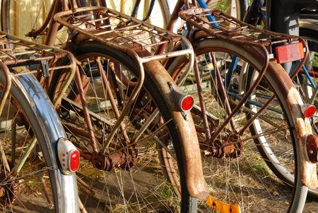 Vintage rusty bikes