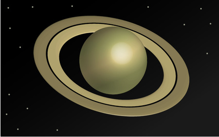 cosmology: Planet Saturn in 3D, wallpaper vector Illustration