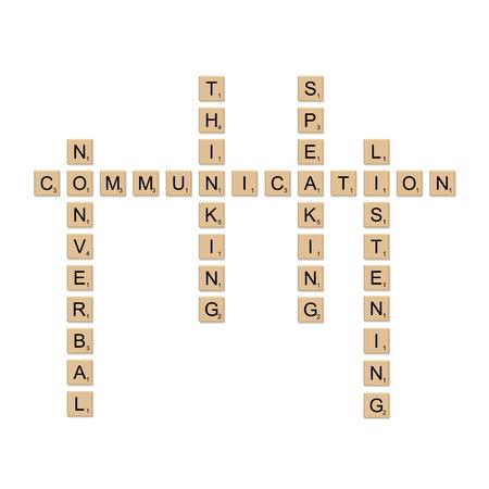 communication concept: Communication concept board game, vector Illustration