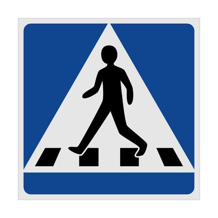 Traffic sign pedestrian crossing, vector Illustration