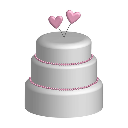 wedding cake: Wedding cake in 3D, vector