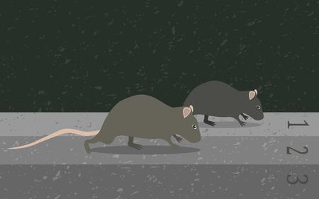 pointless: Concept rat race metaphor, vector