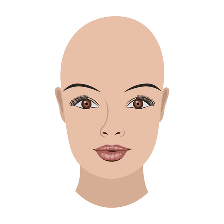 Object bold face brown eyes, vector