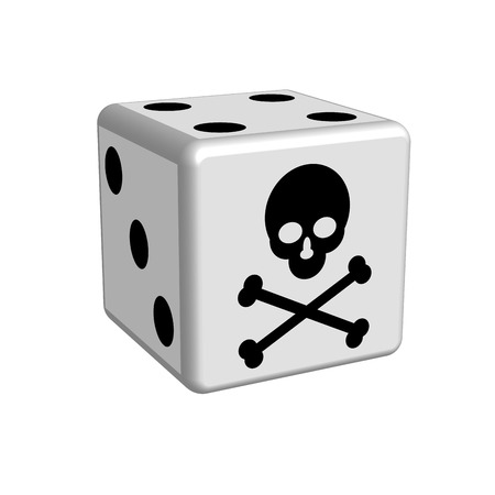 chances are: Dice game danger in 3D, vector